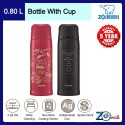 Zojirushi 800ML S/S Bottle with Cup - SJ-JS-08