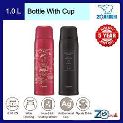Zojirushi 1.03L S/S Bottle with Cup - SJ-JS-10